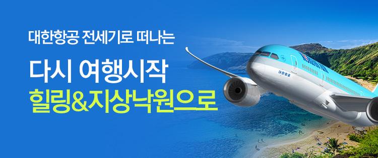 다시여행, 추석연휴X대한항공 전세기